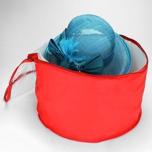 Red Round Hat Storage / Travel Bag